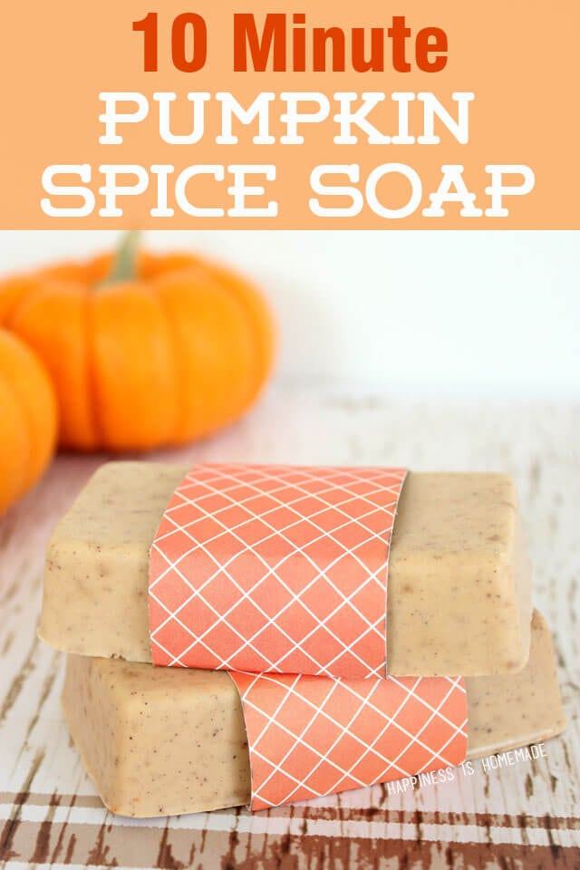 Make Your Own DIY Pumpkin Spice Soap In Less Than Ten Minutes