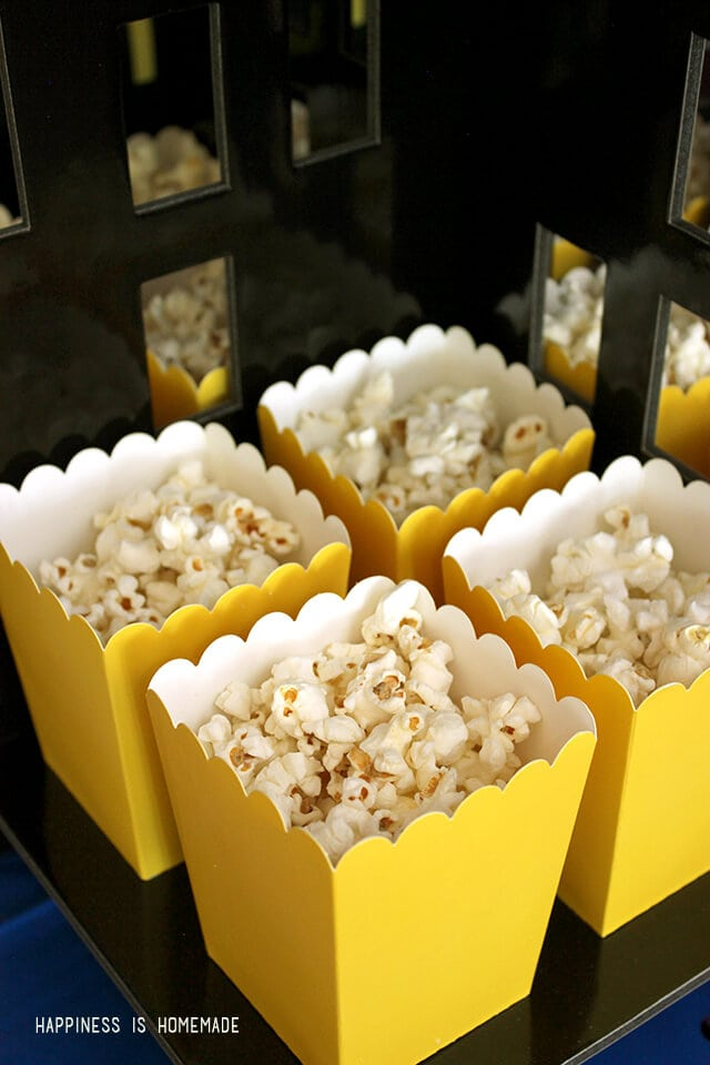 Mini Yellow Popcorn Buckets