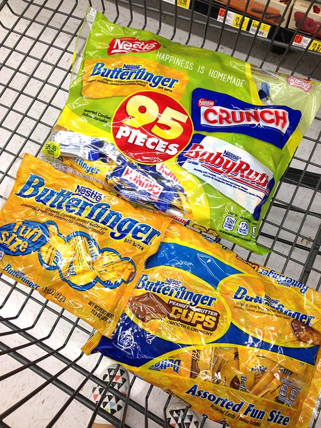 Nestle Butterfinger Chocolate Candy for Halloween