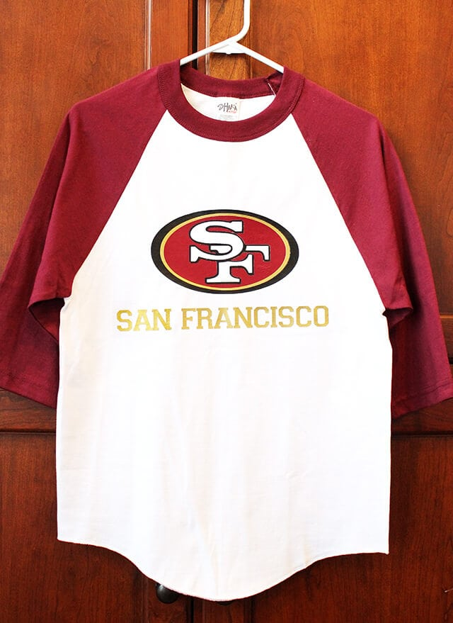 San Francisco 49ers Shirt Happiness Is Homemade