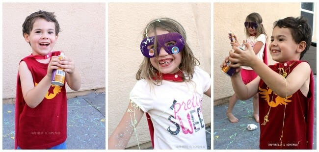 Super Silly String Battle Collage