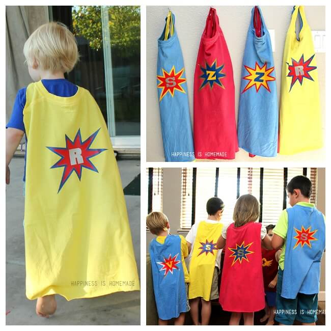 Superhero Cape Collage