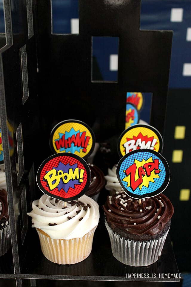 Superhero Party Cupcakes