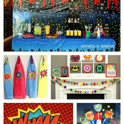 Superhero Movie Night Birthday Party Ideas
