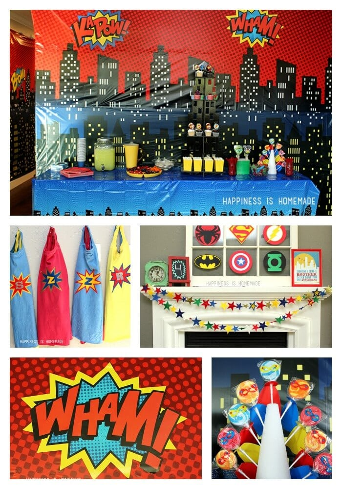 Diy Personalized Superhero Decorations