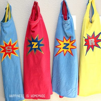 DIY Personalized Superhero Cape from a T-Shirt