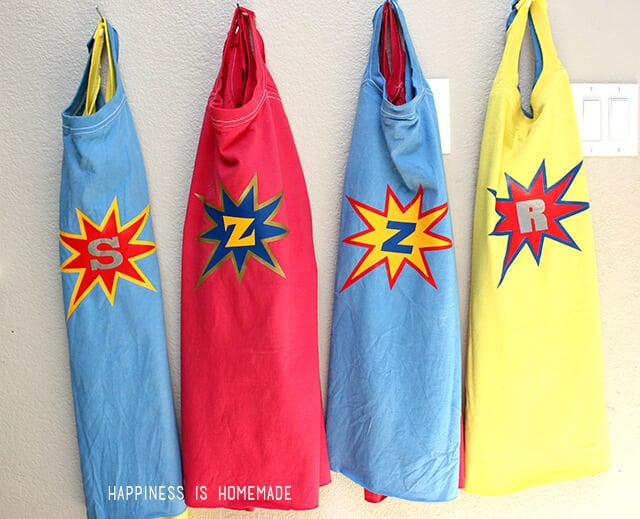 Superhero Party with Personalized Capes
