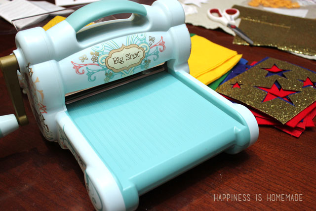 The Sizzix Big Shot Machine is perfect for cutting felt and fabric