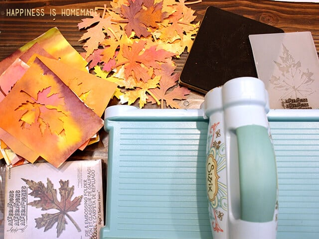 Cutting Watecolor Fall Leaves with the Sizzix Big Shot