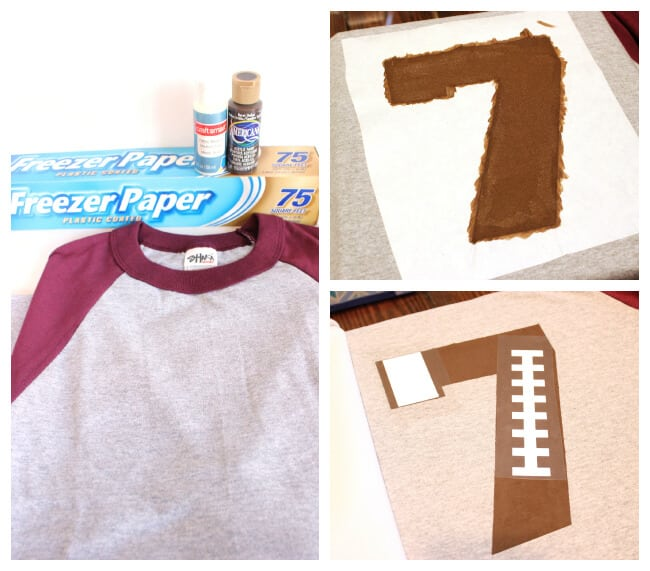 DIY Custom Football Team Number Shirt
