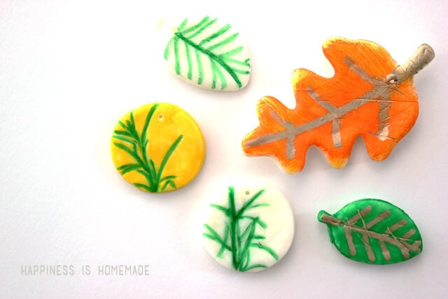 DIY Homemade Air Dry Clay Leaves