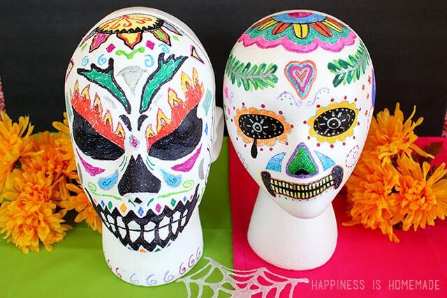 Dia de los Muertos Foam Sugar Skulls