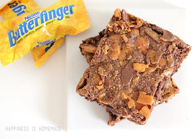 Double Chocolate Butterfinger Cookie Bars