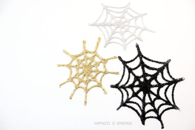 Glitter Glue Spiderwebs