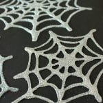 Halloween Kids Craft: Glittery Glue Spiderwebs