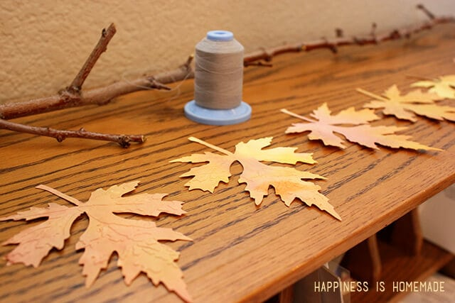 Hanging Leaves for a Fall Wreath Mobile