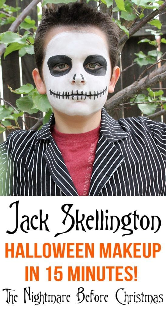 Christmas Halloween Makeup.15 Minute Jack Skellington Halloween Makeup Happiness Is