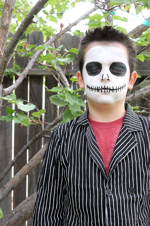 Jack Skellington Halloween Makeup