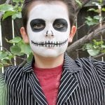 15-Minute Jack Skellington Halloween Makeup
