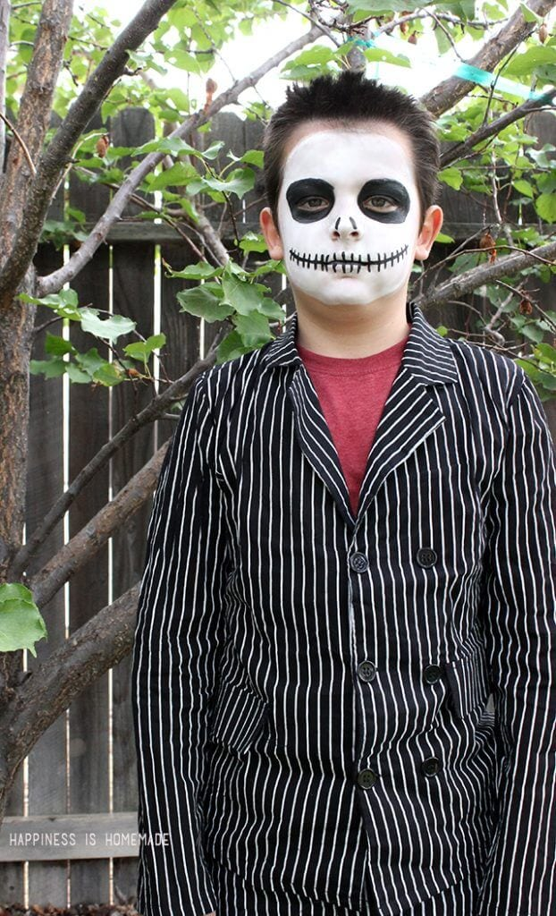Jack Skellington Nightmare Before Christmas Makeup