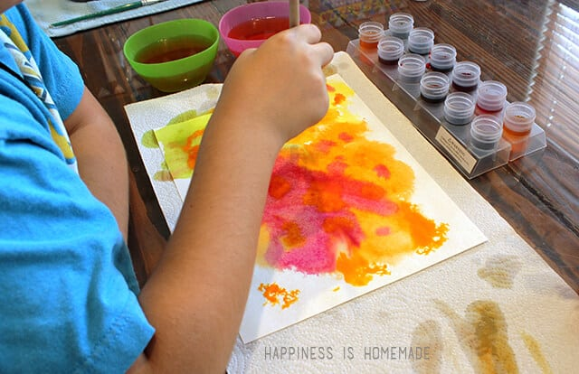 Painting with Watercolor Paints