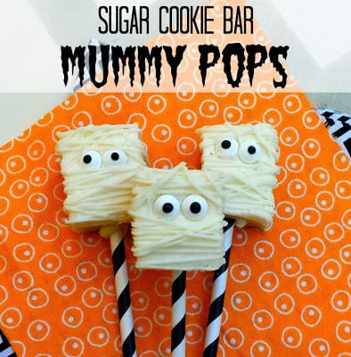 Sugar Cookie Mummy Pops