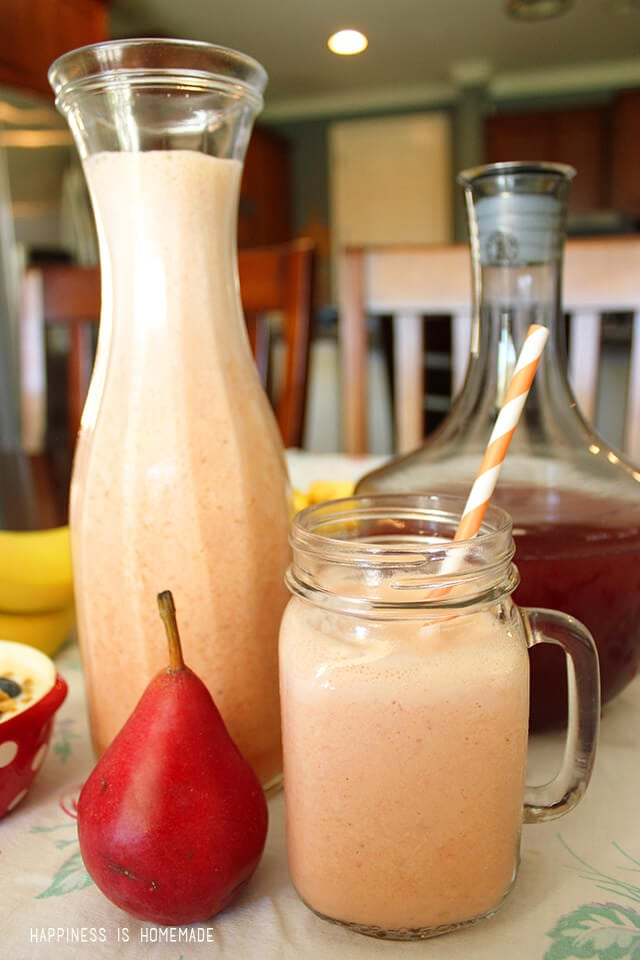 Sunrise Orange Pear Berry Smoothie