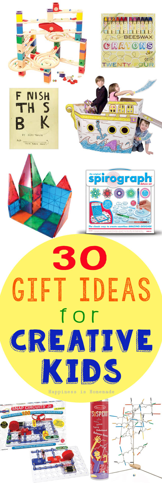 30 Gift Ideas for Creative Kids