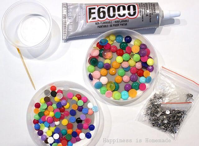 Candy Button Dot Earring Supplies