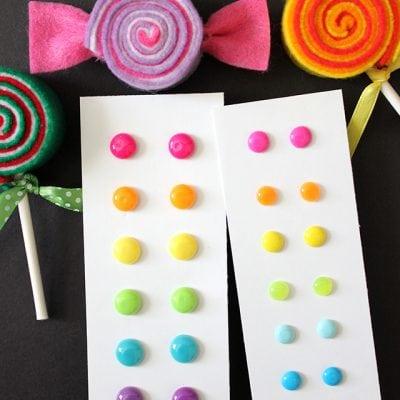 DIY Candy Button Dot Earrings