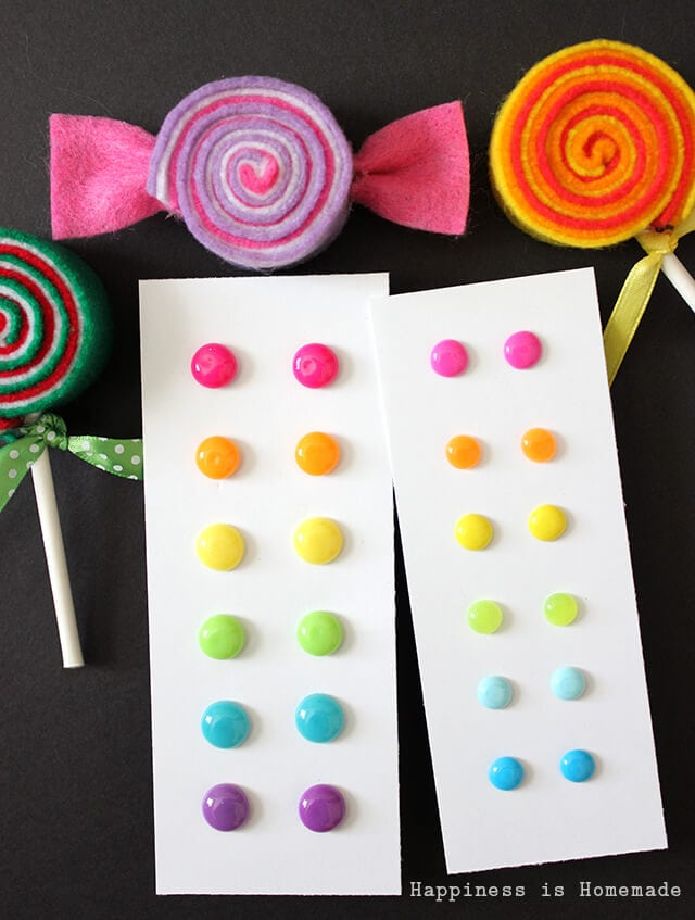 Candy Button Earrings are a Great DIY Homemade Gift Idea