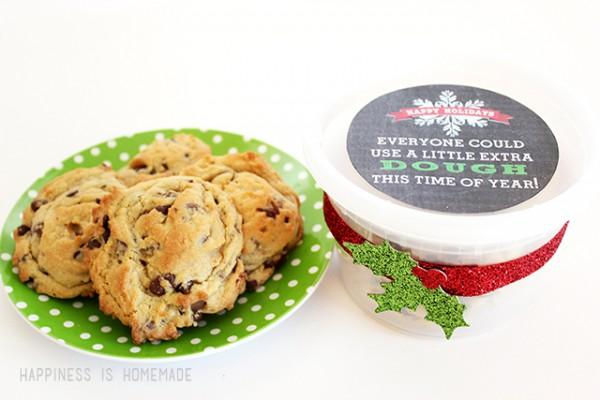 Christmas Neighbor Gift - Printable Cookie Dough Label