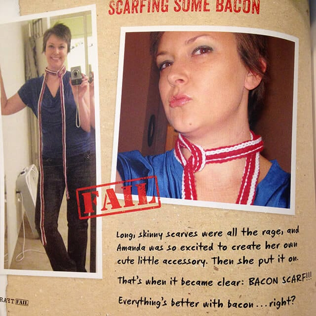 Craft Fail - Bacon Scarf