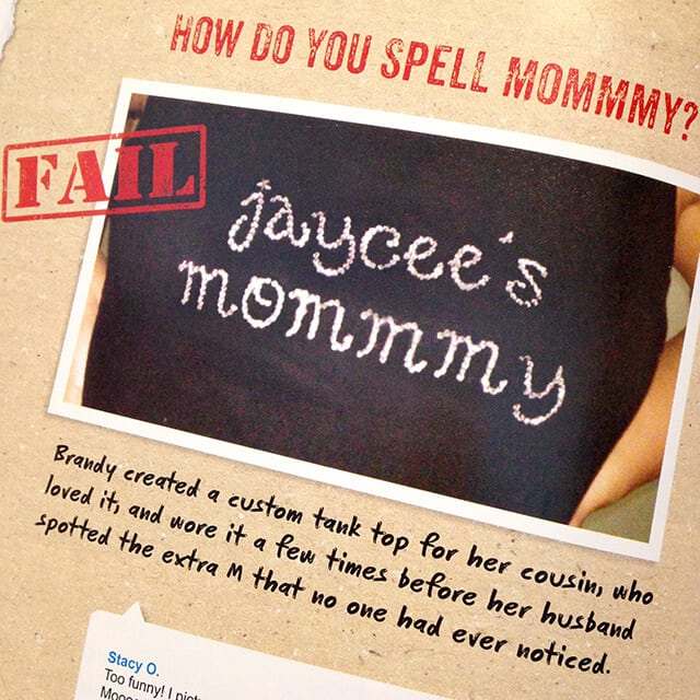 Craft Fail - Mommmy