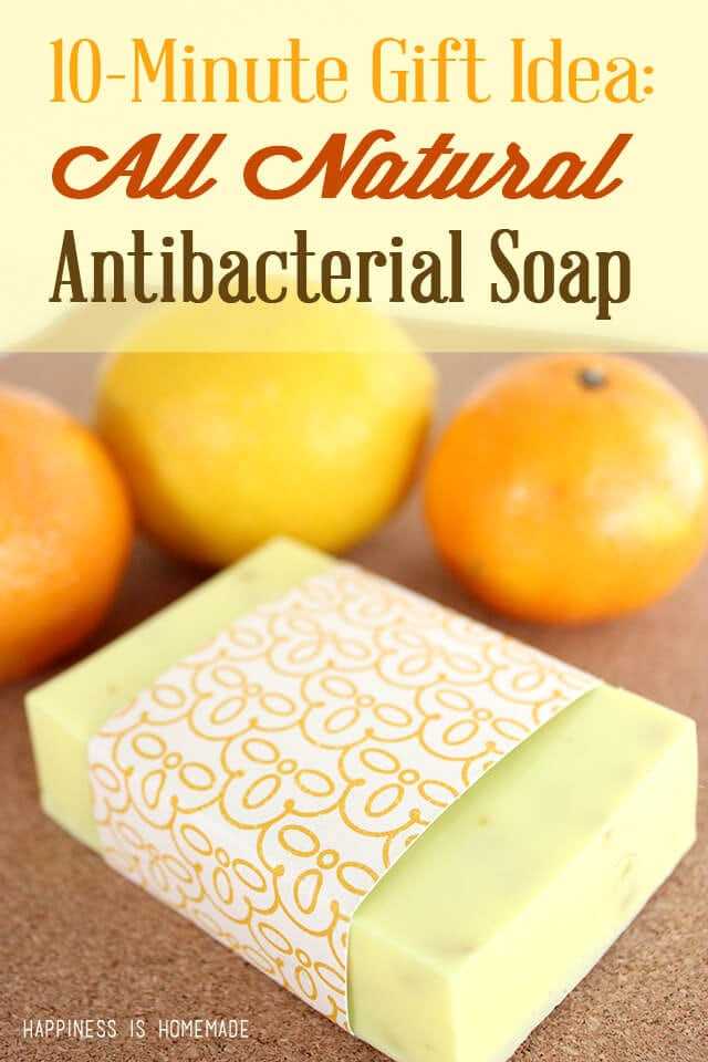 DIY All Natural Citrus Antibacterial Soap in Under Ten Minutes