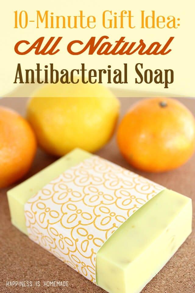 DIY All Natural Citrus Antibacterial Soap in Under Ten Minutes