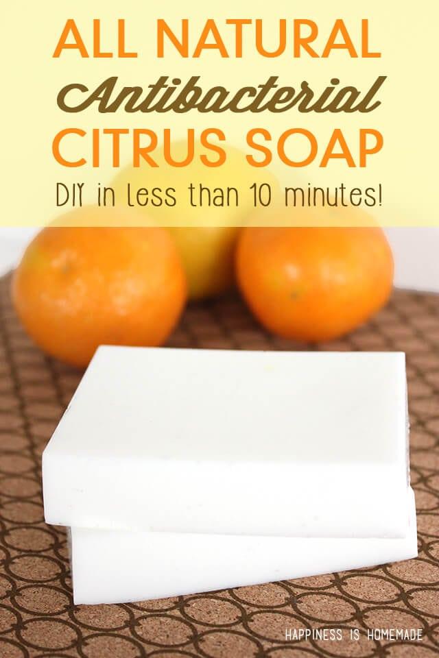 DIY All Natural Citrus Antibacterial Soap