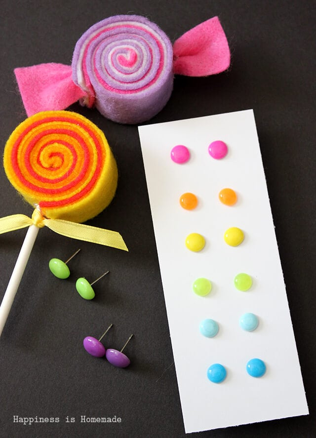 DIY Candy Button Dot Earrings Tutorial
