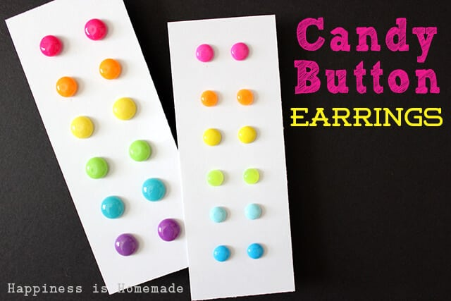 DIY Candy Button Earrings