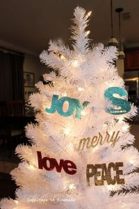 DIY Custom Glitter Ornaments - Text and Monograms