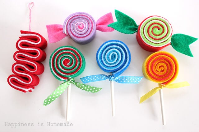 DIY Candy Christmas Tree Felt Ornaments : クリスマス 型紙 無料 : 無料