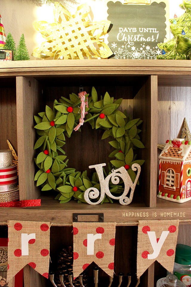 Decorating and Styling My Sauder Bookcase for Christmas