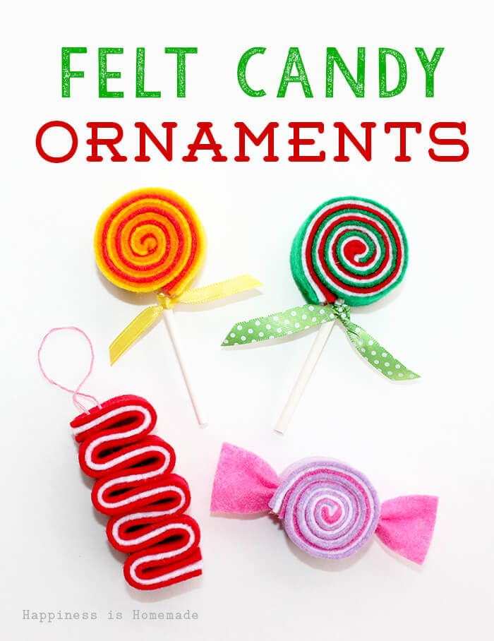 Felt Candy Ornaments 2 - Happiness is Homemade