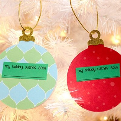 """My Holiday Wishes"" Keepsake Ornament Book"