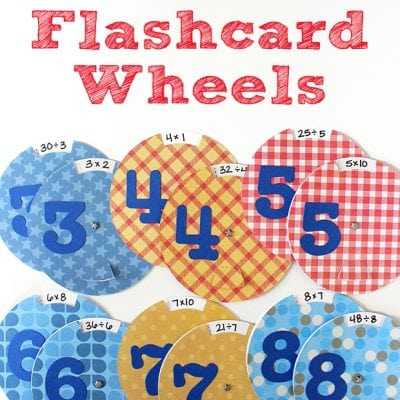 Multiplication + Division Flashcard Wheels