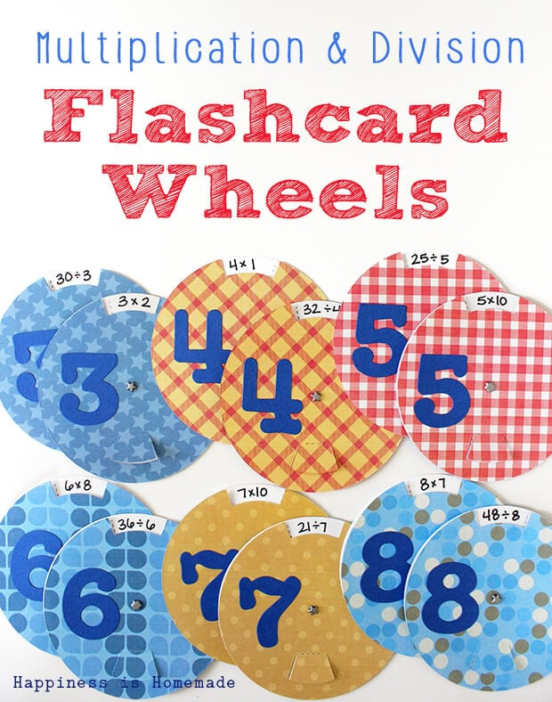 Multiplication and Division Flashcard Wheels