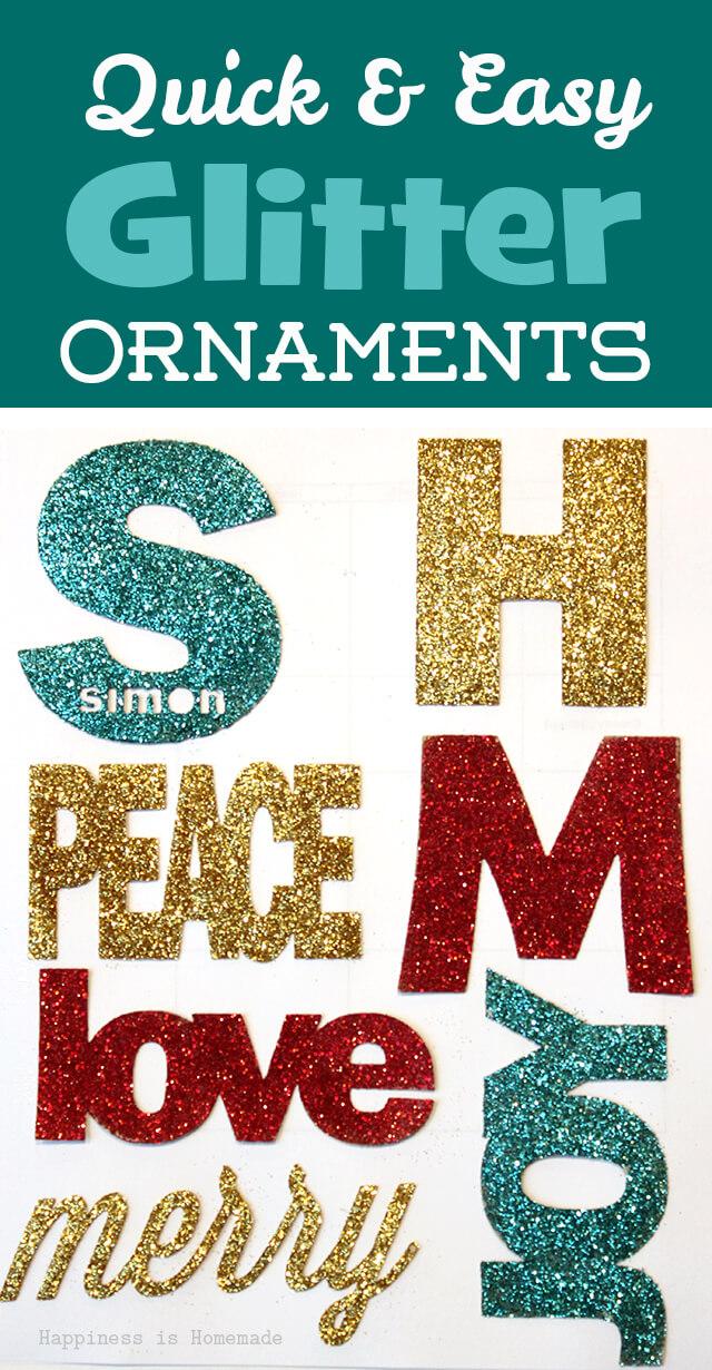 Quick & Easy Glitter Ornaments
