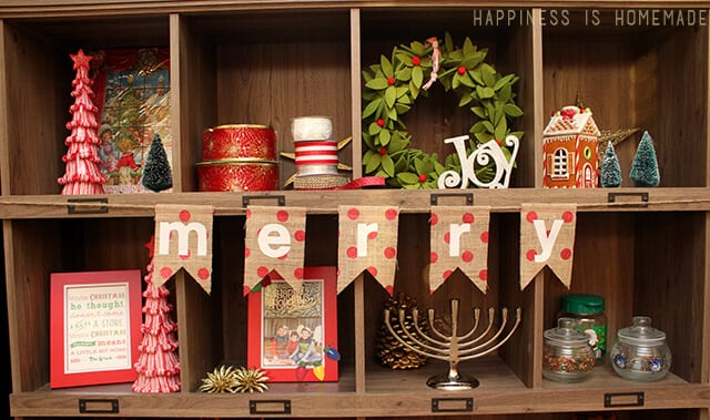 Sauder Bookcase As Christmas Decoration Display Behind The Scenes Setting Stage For Holidays Hiness