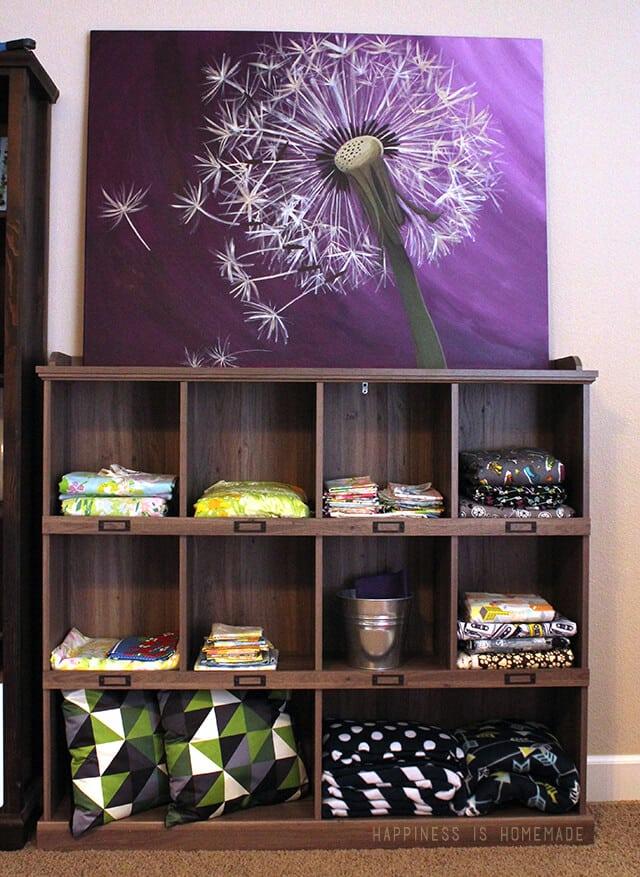 Sauder Bookcase for Fabric Storage Center