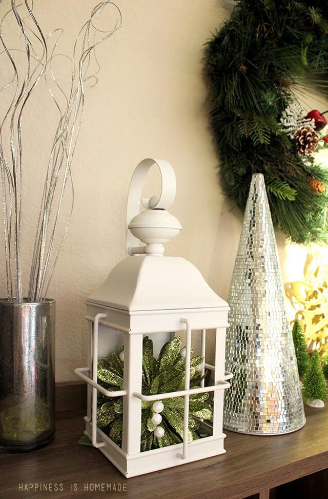 Winter Holiday Display on My Sauder Bookcase